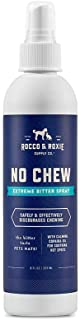 Rocco & Roxie No Chew Extreme Bitter Spray for Dogs – Stop Dog Chewing Deterrent – Best Alcohol Free Anti Chew Puppy Repellent Formula for Puppies and Cats - More Bitter Than Apple (8oz)