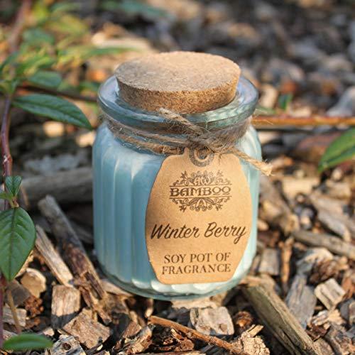 Bougie parfumée en pot de soja – Berry d'hiver