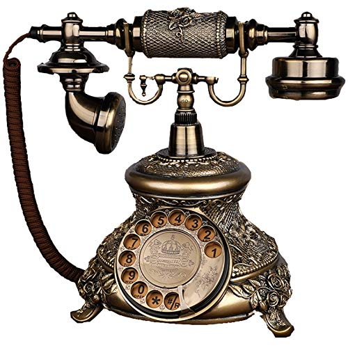 Teléfono Fijo Retro Teléfono con Cable Antiguo Multifunción Teléfono Retroiluminado De Escritorio Teléfono Doméstico Y De Oficina Decoración De La Sala De Estar En El Hogar