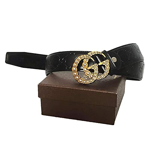 ff8e504f9c7 G Style Leather Belt with Diamond Pearl