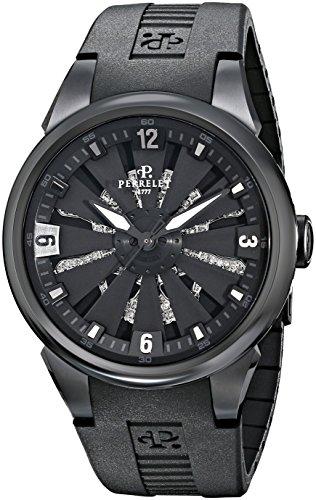 Perrelet Reloj de Hombre automático 41mm Correa de Goma Caja de Acero A4022-1