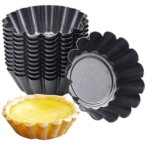 Amasawa 10 Piezas Set Molde de Tartaleta de Huevo Tazas de Huevo para Hornear Tarta Mollete Magdalena Material Aluminio DIY Herramienta Cocina