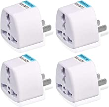 Sungpunet Travel Power Adapter,High Performance Universal UK/EU/AU to US Adapter Travel Power Adapter Convert - 4 Pack