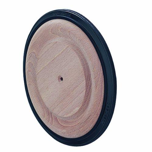 WAGNER Holzrad - BUCHE - Buche massiv lackiert/Kunststoff Softlauffläche, Durchmesser Ø 100 mm, Tragkraft 100 kg - 01610001