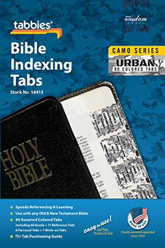 Tabbies Urban Camo Pink Bible Indexing Tabs, Old & New Testaments, 90 Tabs Including 66 Books, 11 Reference, 6 Personal, 7 Write-on Tabs (58415)