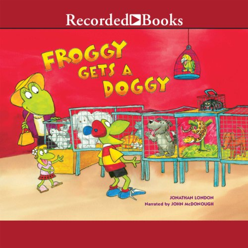 Froggy Gets a Doggy audiobook cover art