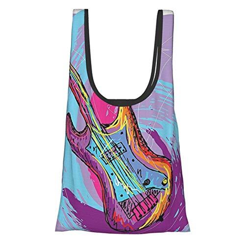 Hdaw Grunge Home Decor - Guitarra eléctrica dibujada a mano con efectos...