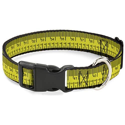 Katzenhalsband Breakaway Maßband gelb schwarz rot 20,3 bis 30,5 cm 1,3 cm breit