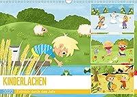 KINDERLACHEN - Froehlich durch das Jahr - Ein Kinderkalender (Wandkalender 2022 DIN A3 quer): Froehliche Kinder erleben die Jahreszeiten in der Natur (Monatskalender, 14 Seiten )