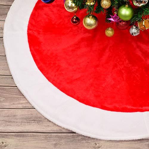 YQing 122 cm Gonna per Albero di Natale, Peluche Gonna Albero di Natale per Albero di Natale Decorazione Capodanno casa Festa Forniture