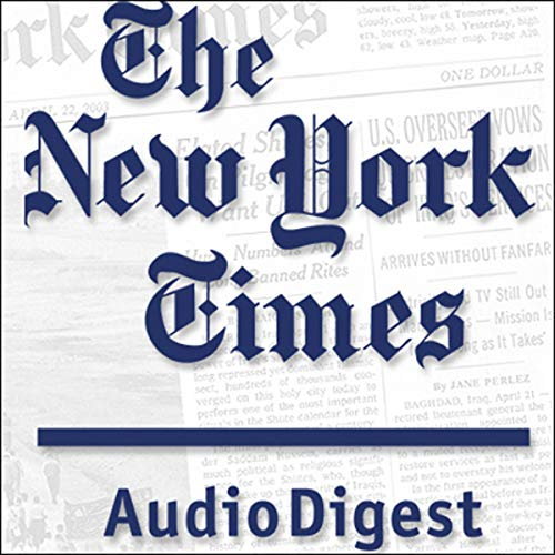 The New York Times Audio Digest, November 09, 2015 copertina
