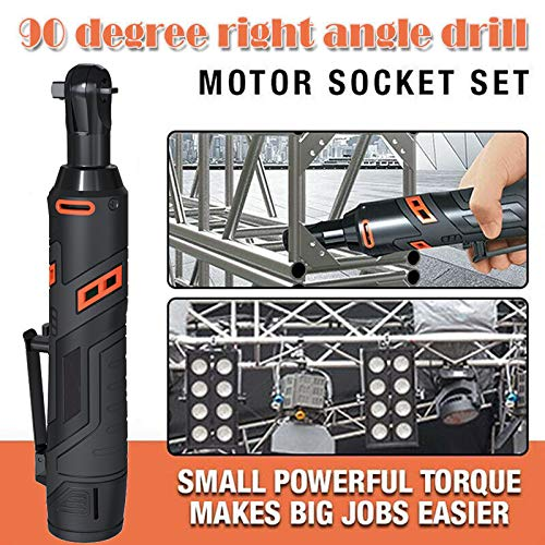 Fanville Motor Power Socket Set Elektrischer Ratschenschlüssel 90 Grad Winkel Großer Drehmomentschlüssel Kit