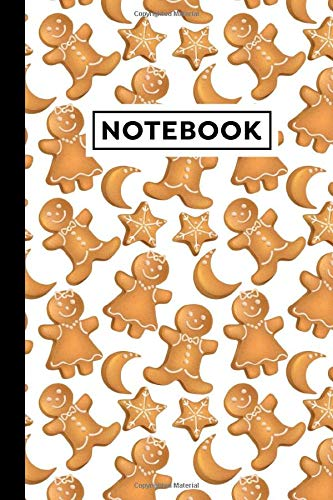 Notebook: Christmas Biscuits Notebook | Christmas Biscuits Themed Gift For Gingerbread Cookie Lovers | Christmas Biscuits Journal | 6x9 | 120 Lined Pages With Christmas Biscuits Themed Borders