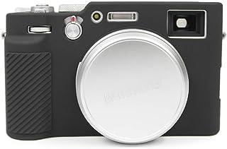 MUZIRI KINOKOO Silikonhülle für FUJI X100V Schutzhülle Fujifilm X100V Silikon Cover Skin (Schwarz)