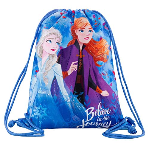 Frozen - Bolsa de deporte con dibujo de Frozen, 42 x 32 cm, para ir al gimnasio, mochila plana para la escuela o para niñas