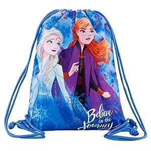 Frozen – Bolsa de deporte con dibujo de Frozen, 42 x 32 cm, para ir al gimnasio, mochila plana para la escuela o para…