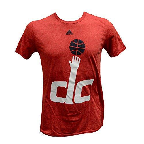adidas Camiseta de la NBA para hombre con logotipo preferido, Washington Wizards, XXL, Rojo