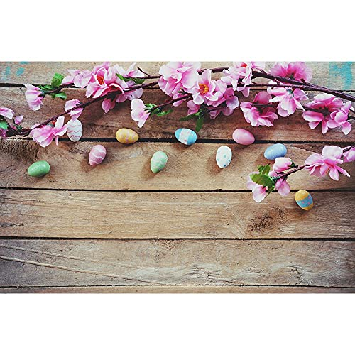 Accesorios de Fondo de fotografía de Vinilo Accesorios de fotografía de Tema de Tablero de Madera y Flores Cortina de Disparo de Estudio fotográfico A11 9x6ft / 2,7x1,8 m