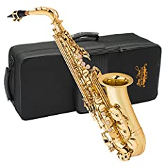 The Jean Paul Alto Saxophone is in key of Eb Comes with robust contoured carrying case for easy transportation.Mouthpiece cap: nickel-plated Resonators: nylon Beautiful yellow brass body construction with Lacquer finish Included Accessories: 1 Rico R...