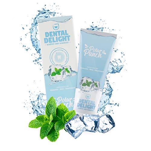 DENTAL DELIGHT Zahncreme Gletscher-Minze Vegan Klimaneutral Mikroplastik-frei