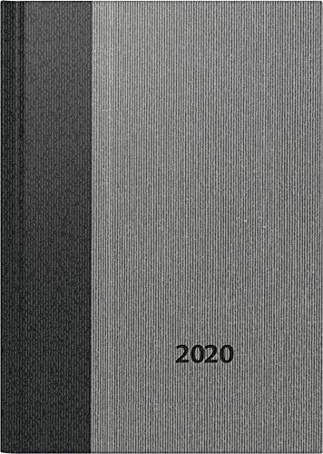 rido/idé 7026013 Buchkalender Mentor (1 Seite = 1 Tag, 145 x 206 mm, Balacron-Einband Business Class, Kalendarium 2020) grau