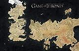 Game of Thrones – Mapamundi de Westeros y Essos, los mundos de hielo y de fuego, póster de 30 x 46 cm