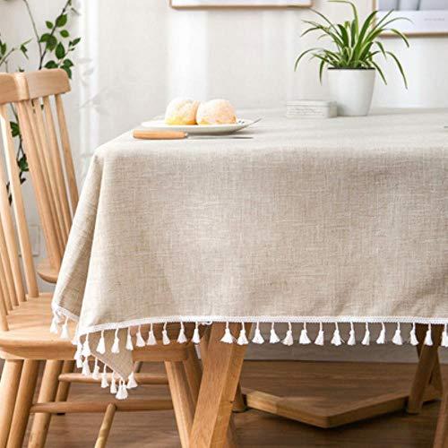 DSJ Home TV kast eettafel rechthoekig tafelkleed linnen tafelkleed, zie grafiek, 90x90cm