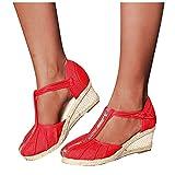 Espadrilles, sandali da donna con tacco alto, sandali da donna basic opened Toe Mid, scarpe alla moda da donna estive