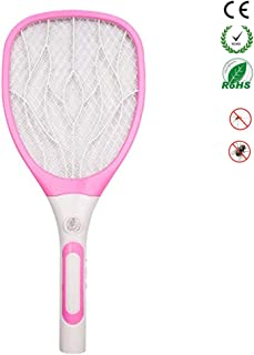 Chlry Raqueta Matamoscas electrico Mata Mosquitos Recargable con USB y Luces LED Evitar el diseño de Choque eléctrico, antimosquitos Mata Insecto Moscas Interior