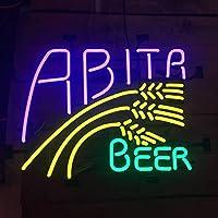 Queen Sense Abita Beer パープルヘイズ ネオンサイン (各種サイズ) ビールバー パブ 男性 洞窟 ビジネス ガラスランプ ライト DC429 20 Inches マルチカラー