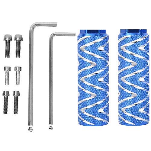 iFCOW Pedal trasero universal de aleación de aluminio con agujero pequeño para bicicleta de montaña (azul)