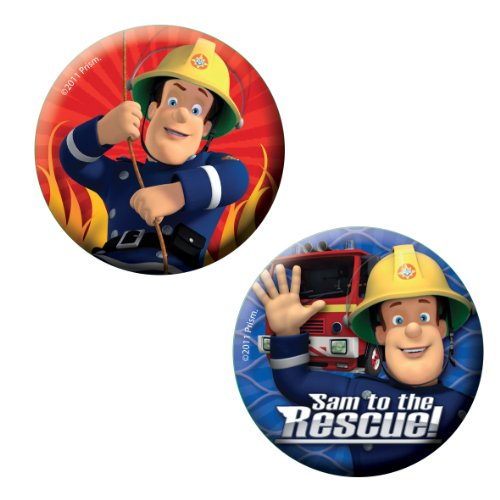 6 badges rouges et bleus \