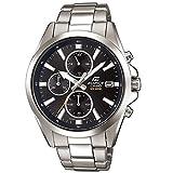 Casio EDIFICE Reloj en caja sólida, 10 BAR, Negro, para Hombre, con Correa de Acero inoxidable, EFV-560D-1AVUEF