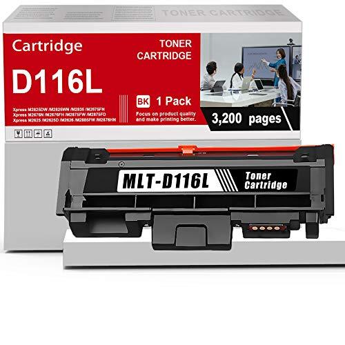 1 Pack MLT-D116L D116L Toner Cartridge Black Compatible Replacement for Samsung Xpress M2825DW M2675FN M2676N M2875FW M2876HN