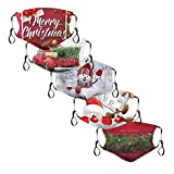 Christmas Gifts Face Covering Face_Cover Face_Masks Washable Reusable UK with Filter,3D Christmas Decorations Gifts Sale Clearance Motorbike Bandana Balaclavas Cotton Fabric_Facemask
