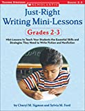 Just-Right Writing Mini-Lessons: Grades 2-3: Mini-Lessons to Teach Your Students the Essential Skills and Strategies They Need to Write Fiction and Nonfiction (Just Right Writing Lessons)