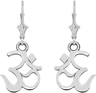Elegant Sterling Silver Ohm (OM) Ganesh Earrings