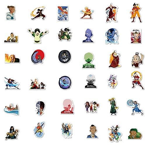 100pcs Avata/_r The Last Airbender Stickers Cool Skateboard Stickers for Water Bottle Skateboard Guitar Motorcycle Luggage Waterproof Vinyl Aesthetic Stickers