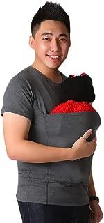 Big Sale! Fastbot Men's Solid Color Baby Big Pocket Kangaroo Dad Stretch Short Sleeve T-Shirt