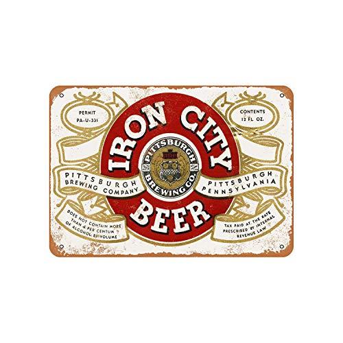 43LenaJon 1933 Pittsburgh Iron City Beer Vintage Look Metallschild