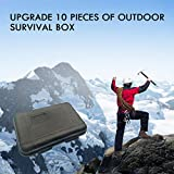 Molyflower Travel Outdoor Sos Equipment Metal Multifuncional Wild Survival First Aid Box Adventure Survival Kit 10Pcs / Set - Gris