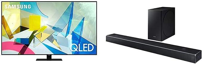 $3395 » SAMSUNG 75-inch Class QLED Q80T Series - 4K UHD Direct Full Array 12X Quantum HDR 12X Smart TV with Alexa Built-in (QN75Q80TAFXZA, 2020 Model) with Harman Kardon 5.1.2 Dolby Atmos Soundbar