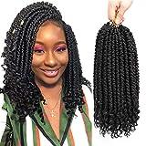 Anilda Spring Twist hair12 inches 6 packs black Senegalese spring twists Crochet Braids hairstyles bomb twist crochet hair For Black Women
