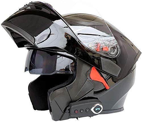 SVIVE Bluetooth Integrado Modular Casco de la Motocicleta ECE 22.05 certificación Dot Seguridad estándar-Cara Completa Racing Casco de la Motocicleta General