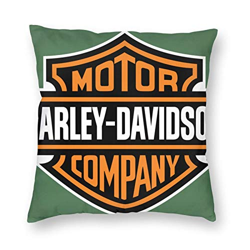 Funda de cojín para Harley Davidson, funda de almohada decorativa para salón, dormitorio, sofá, silla, 45 x 45 cm
