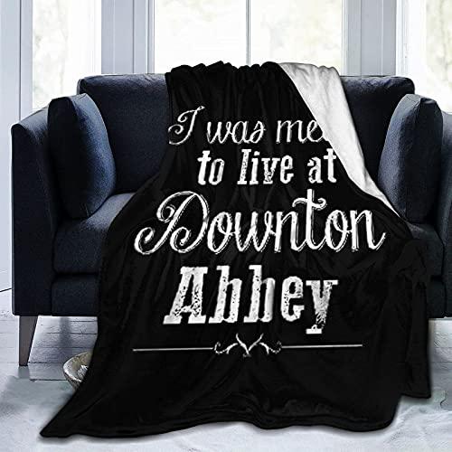 Ich sollte bei Down-ton ABB-ey Ultra-Soft Micro Fleece Decke Mikrofaser Decke, Luxus All Seasons Warm Decke für Bettwäsche Sofa und Reisen Leben