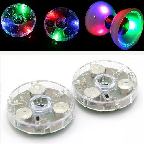 Juggle Dream LED-Diabolo Kit – Glow Diablo Kit für Leuchtdiablo Spielen – inklusive Cascade Jonglier-Stuff Bag