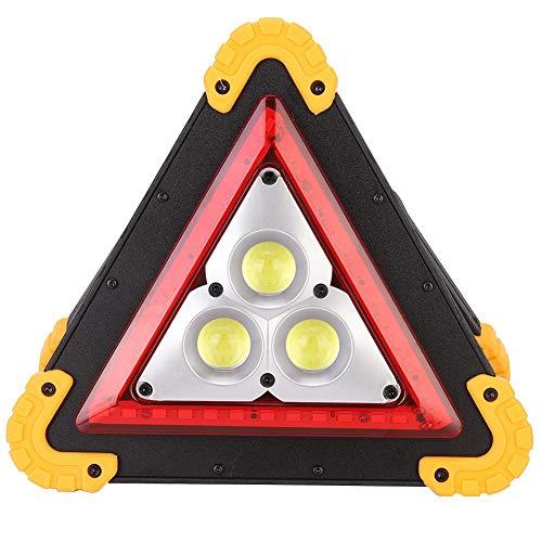 Qiilu 6500K 10W 875LM Lámpara triangular de advertencia para automóvil Lámpara de seguridad de emergencia IP67 a prueba de agua