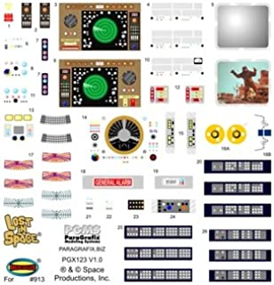 VCSHobbies Paragrafix - LOST IN SPACE JUPITER 2 DECAL SET FOR STOCK INTERIOR - PGX122