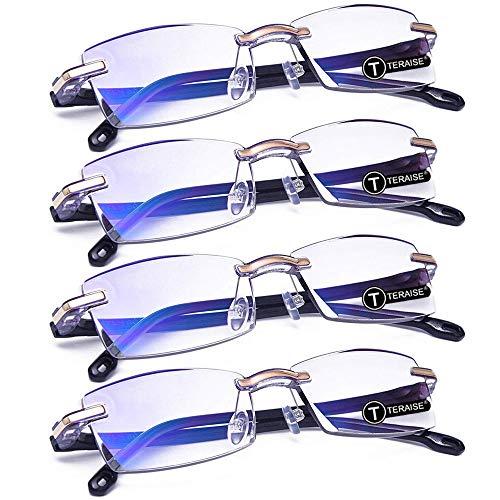 TERAISE 4 piezas Gafas de lectura Moda Anti-azul Lectores de
